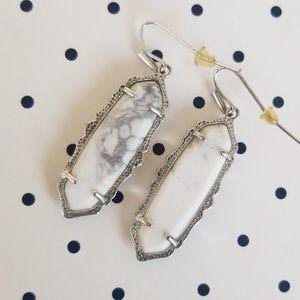 Kendra Scott Fran White Howlite Earrings